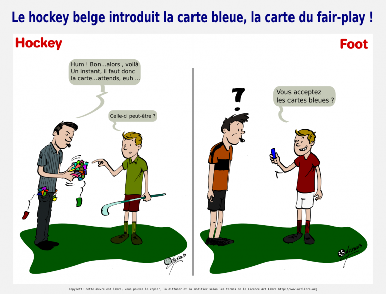 Le hockey belge introduit la carte bleue, la carte du fair-play !