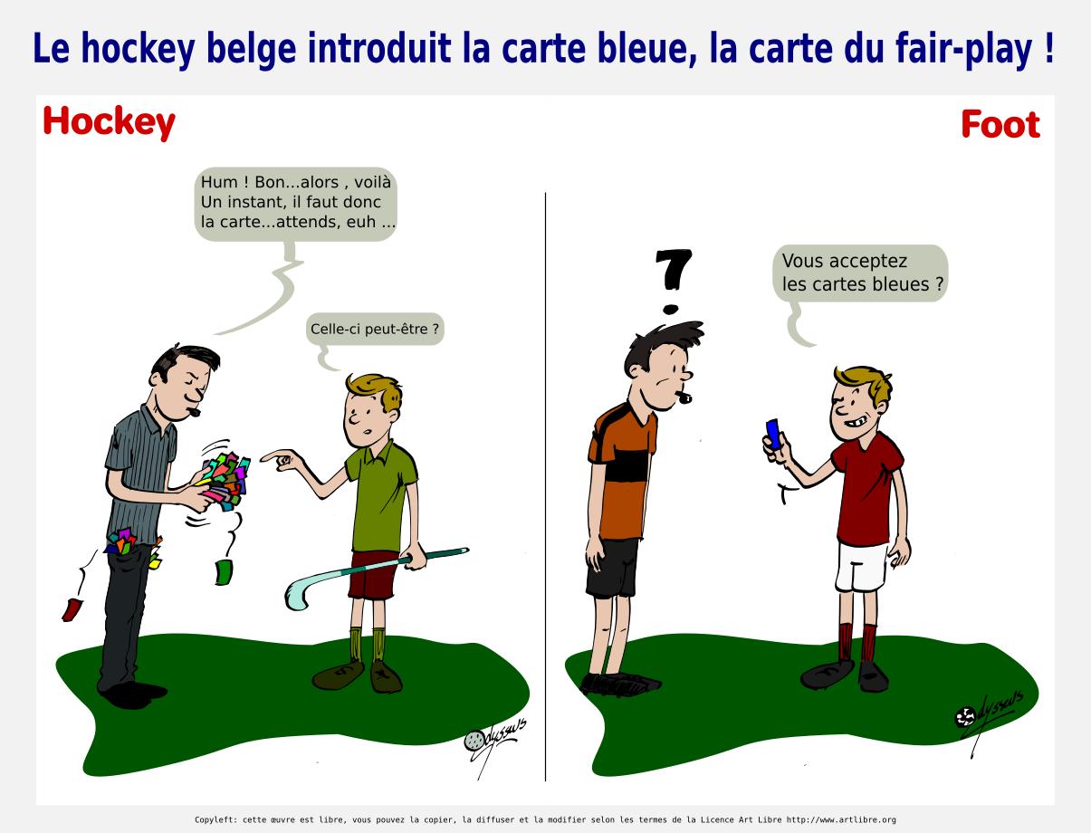Le hockey belge introduit la carte bleue, la carte du fair-play !