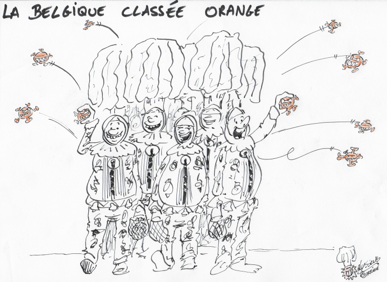 Covid 19 : la Belgique passe en orange